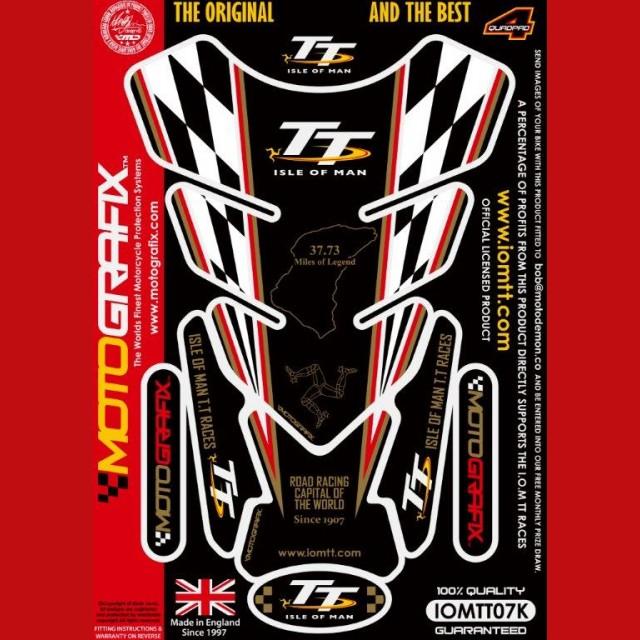 Motografix Isle Of Man TT Races Official Licensed 3D Gel Tank Pad Protector IOMTT07K