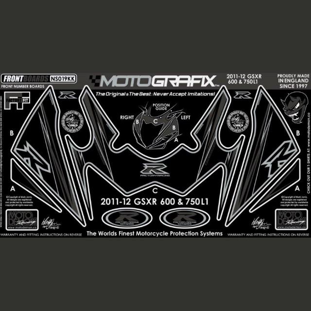 Motografix Steinschlagschutz vorn Suzuki GSX-R 600 / 750 2011- NS019KK