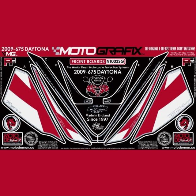 Motografix Steinschlagschutz vorn Triumph Daytona 675 2009-2012 NT003SG