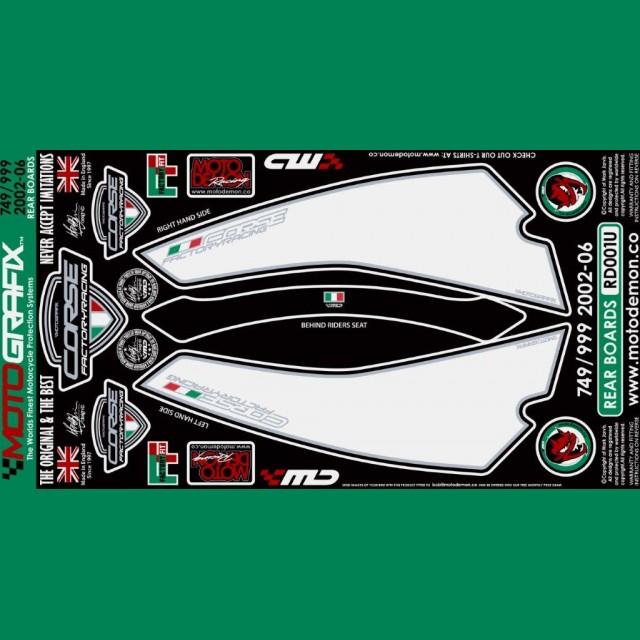 Motografix Steinschlagschutz hinten Ducati 749 / 999 RD001U