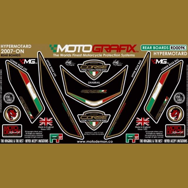 Motografix Steinschlagschutz hinten Ducati Hypermotard 1100 2007- RD009K