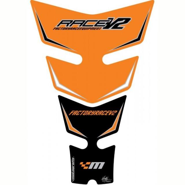 Motografix KTM Race V2 Orange / Black Factory 3D Gel Tank Pad Protector TKTM01O